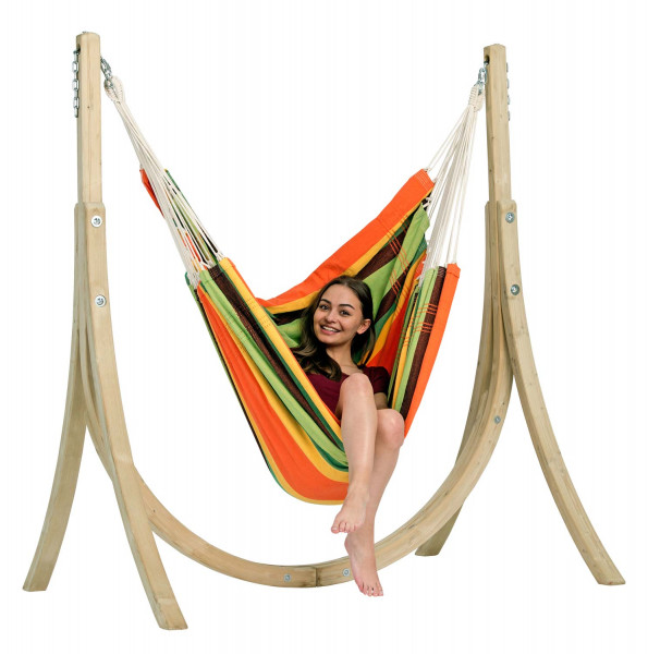 The Taurus Set esmeralda with the brazilian XXXL hanging chair and the wooden support Taurus