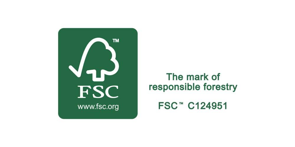 Bois certifié FSC(TM) issu de forêts exploitées selon les principes du développement durable
