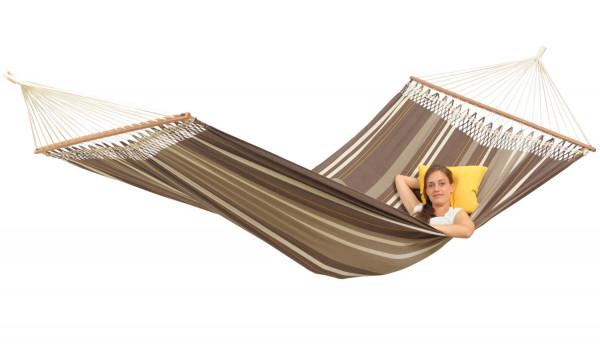 The brazilian XXL premium rod hammock is big enough for three people