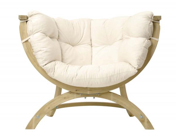 Der AMAZONAS Papasansessel Siena Uno ist der bequeme Loungesessel für Haus und Garten